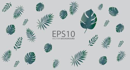 tropical green leaf pattern background