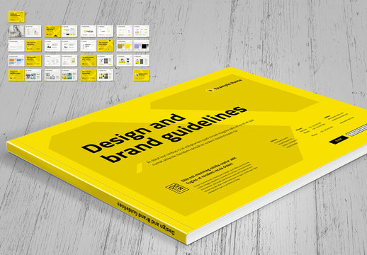 Brand Style Guide Layout with Yellow Accents