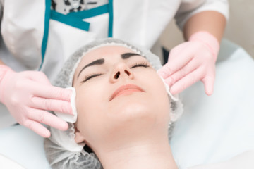 cosmetology, skin care, facial cleansing from acne, personal hygiene, healthy lifestyle, acne, doctor and patient...