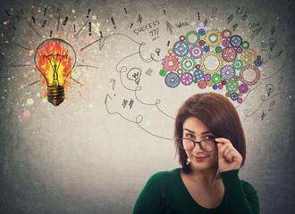 businesswoman has ideas
