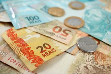 Lot of Brazilian Banknote Money