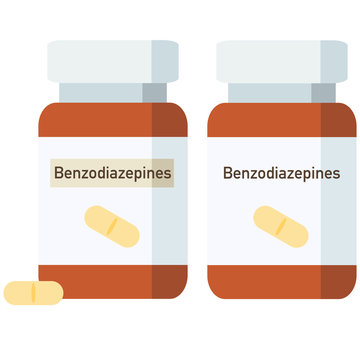 Bottle of pills, benzodiazepines