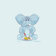 elephant sticker emoticon in business shares coin