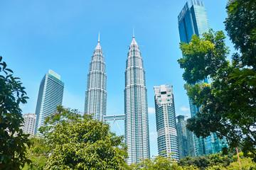 Fotobehang Kuala Lumpur Petronas Towers in Kuala Lumpur.