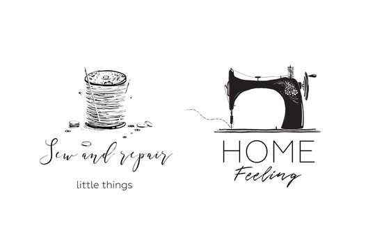 Sewing Machine Hobby Logotype