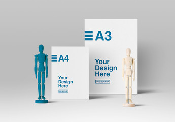 Page, Poster, and Mannequin Mockup