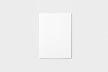 Brochure mockup A4, US-Letter, on white background