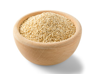 Quinoa Seeds Background or Chenopodium Quinoa Isolated