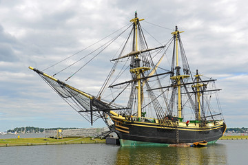 Friendship of Salem at the Salem Maritime National Historic Site (NHS) in Salem, Massachusetts, USA.