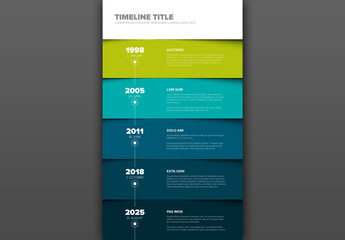 Blue and Green Timeline Infographic Layout
