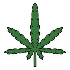 quirky hand drawn cartoon marijuana