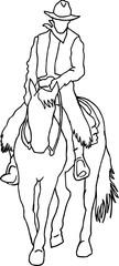 Western Rider Vector Illustration
