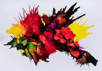 Mix of colorful paint