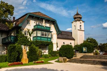 Parish Church In Strobl am Wolfgangsee, Austria