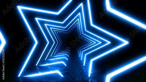 Abstract background with animation of flight in abstract