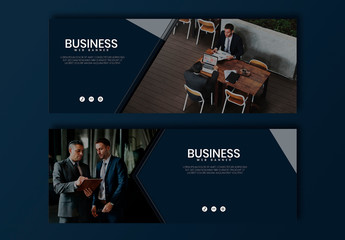 Dark Blue Web Banner Layouts
