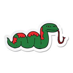 sticker of a cartoon slithering snake