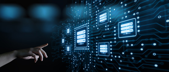 Server Network Data Business Internet Technology Concept Wall mural