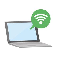 laptop computer speech bubble