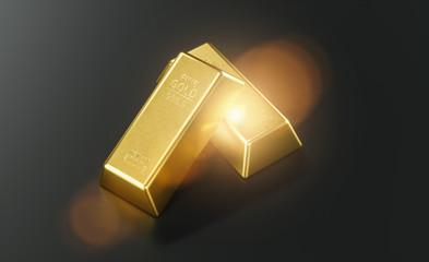 Gold bar close up shot