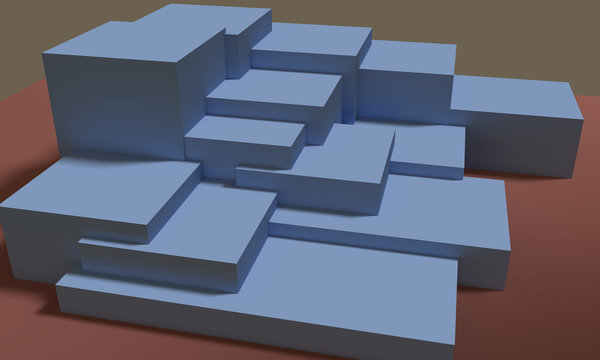 Illustration of 3d render with abstract concept