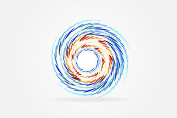 Logo spiral waves hurricane symbol vector
