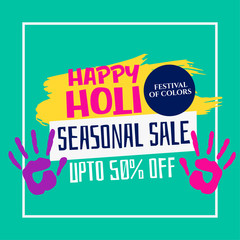 happy holi festival sale template design