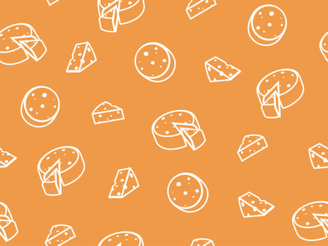 Vector cheese seamless pattern.