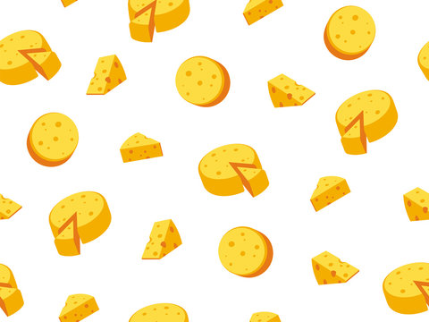 Vector seamless illustration of cheese.