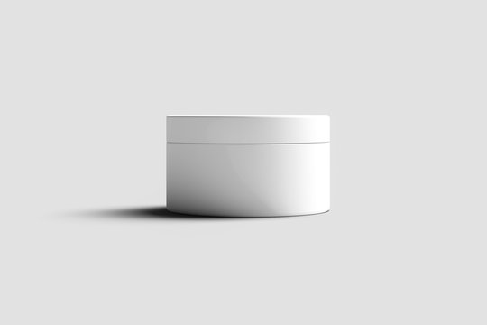 Cosmetic cream container for hand cream. Mockup.