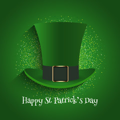 e08bed291a6 St Patrick s Day background with top hat and glitter
