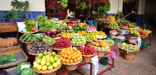 Fruits exotiques - Funchal / madère (Mercado dos Lavradores) Fototapete