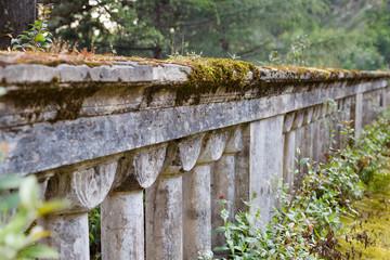 old and abandon Abhazian stone fence