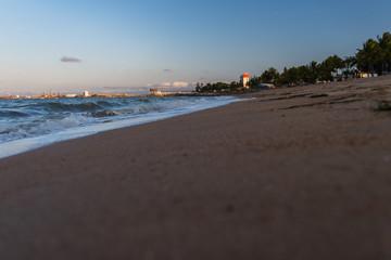 Strand mit Blick in liegender Perspektive