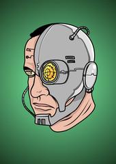 A face of a Cyborg, Vector illustration