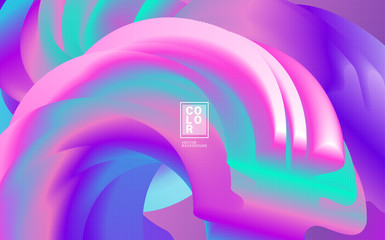 Abstract shape wave 3d Colorful Gradient Background. Vector, WAVE DYNAMIC, DOTTED, Pastel colors, layout templatev