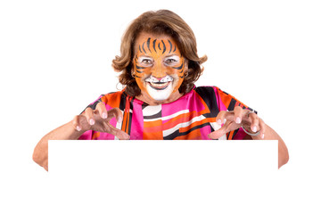 Granny with face-paint