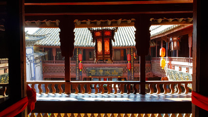 A stately home in the historic center of Xizhou, Yunnan, China