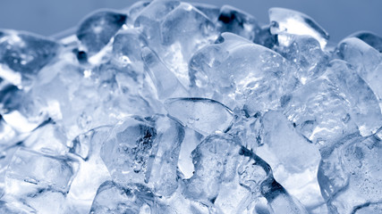 Ice melts in studio, global warming concept