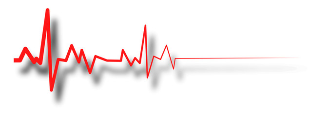 heart beat line, ekg death die. pulse EPS10 vector illustration