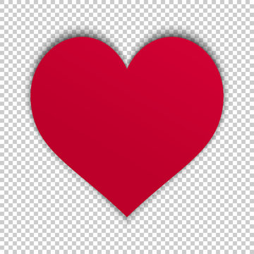 red heart on transparent background