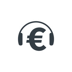 Headphones with euro symbol