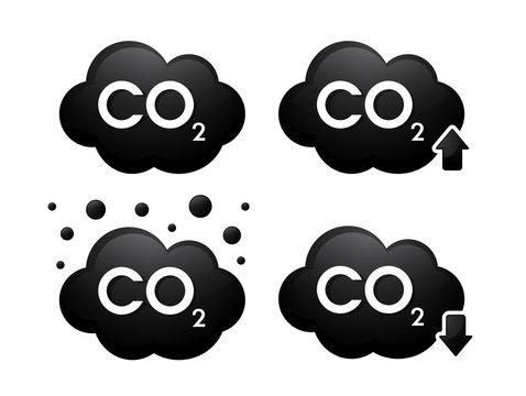 Gas cabondioxide(Co2) 3D icons. Vector Illustration.