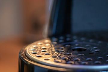 closeup of an espresso machine