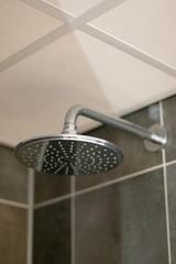 Modern rain shower in bathroom
