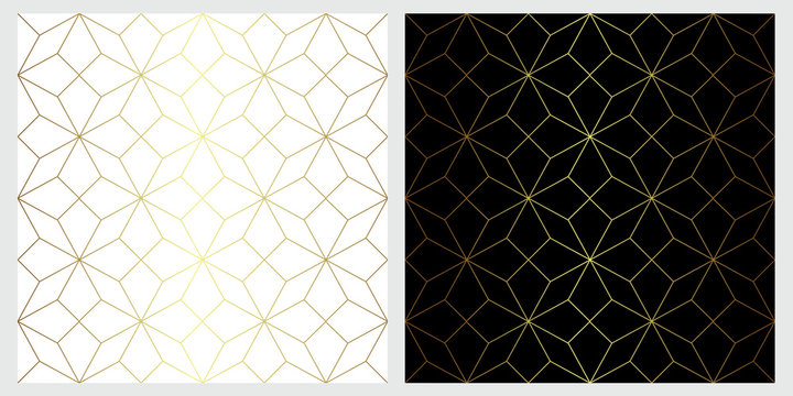 Star seamless vector pattern with wilth geometric line