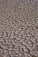Close up of cracks on the drought land