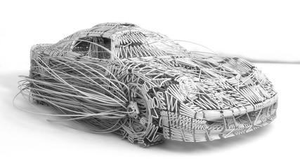 3d render. Concept car lines