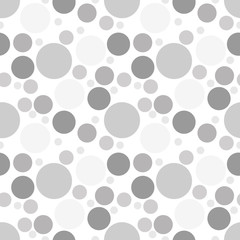 Round seamless pattern. Seamless retro circle pattern. Dotted round seamless background, pattern, ornament for wrapping paper, fabric, textile, website, wallpaper. Vector illustration.