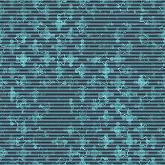 Seamless abstract pattern. Texture in turquoise and black colors.
